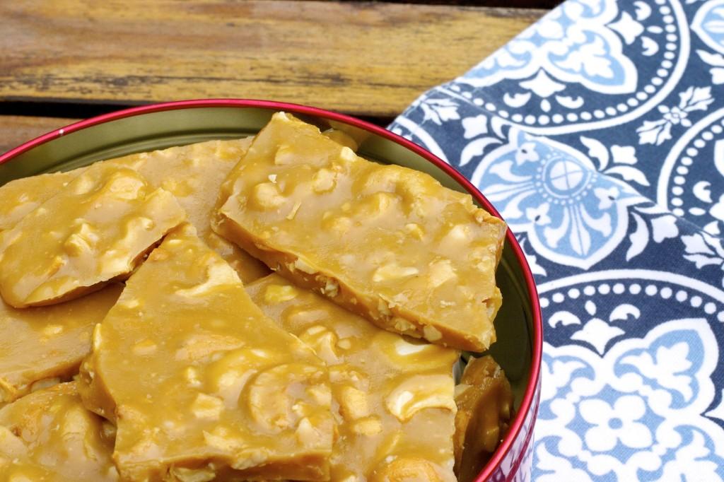 Buttery Cashew Brittle - Feeling Foodish