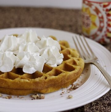 Pumpkin cheesecake waffle.