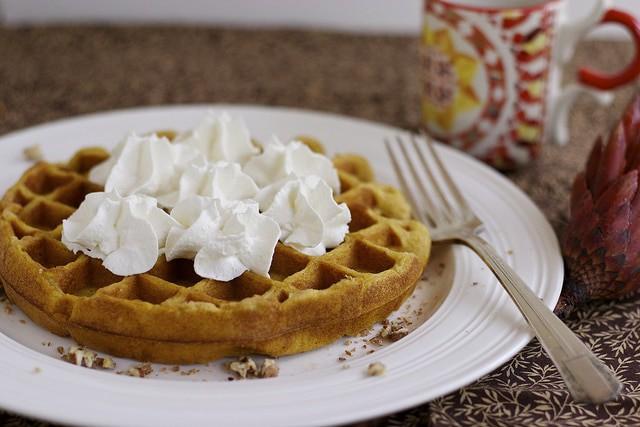 Pumpkin cheesecake waffle