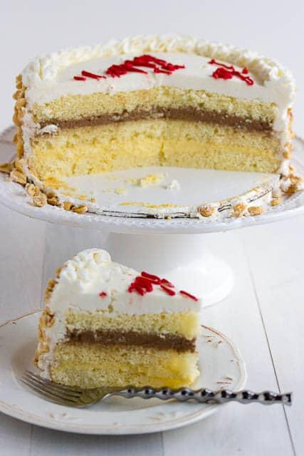 Italian Rum cake and slice -1