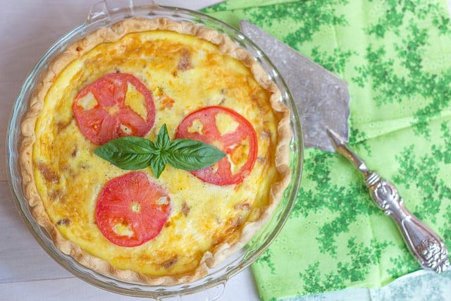 easy quiche - Feeling Foodish