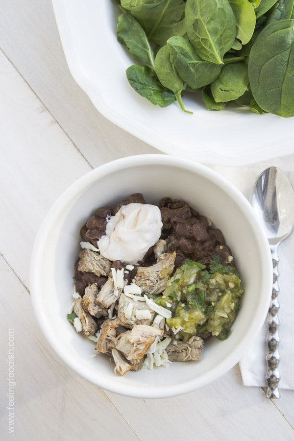 Black bean chili | Feelingfoodish.com
