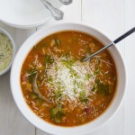 easy, healthy minestrone soup |feelingfoodish.com