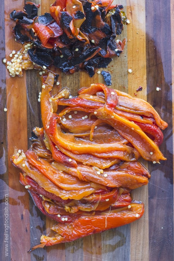 roasted red peppers|feelingfoodish.com