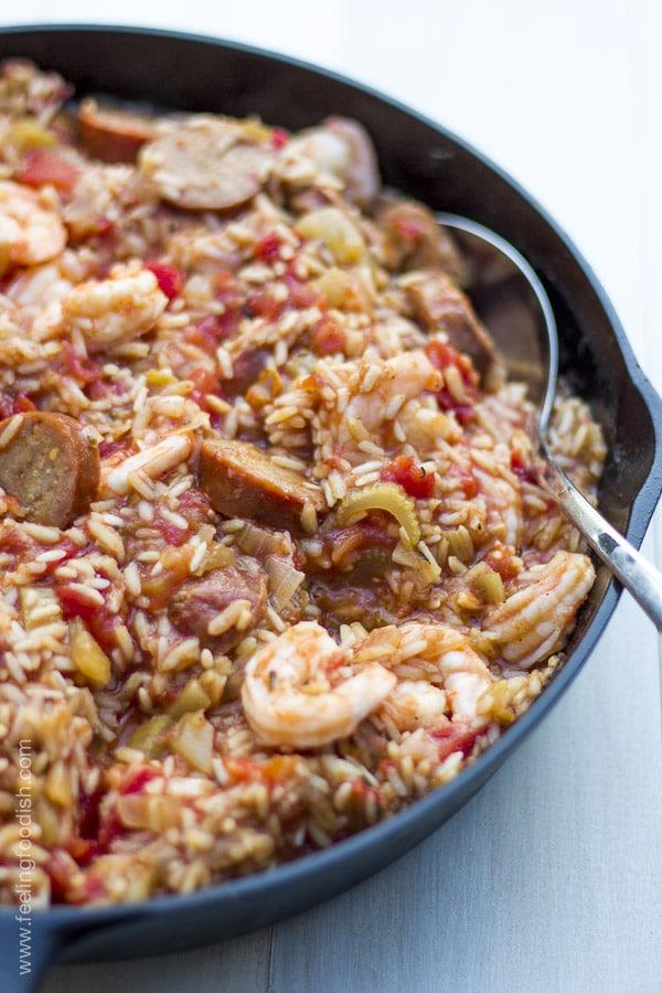 Wow, this Savannah red rice is amazing! A new favorite | FeeliingFoodish.com