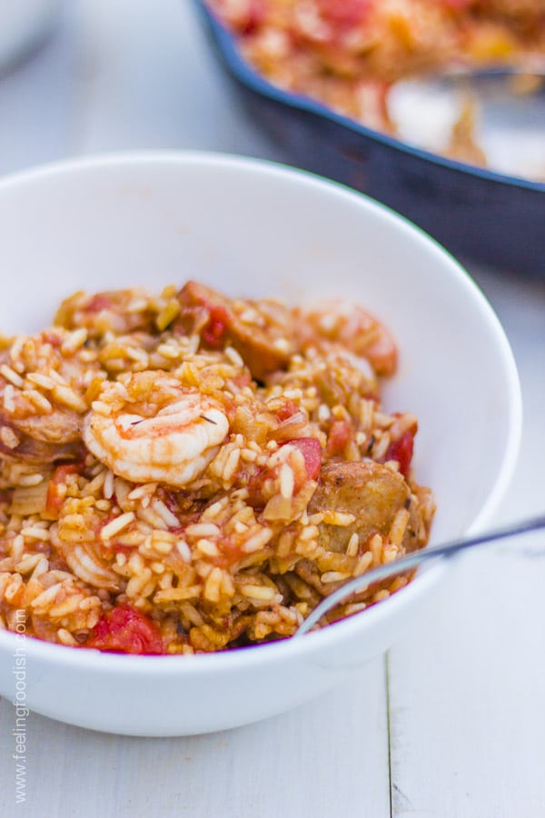 Savannah red rice with shrimp and chorizo..OMG! | Feelingfoodish.com