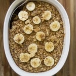 baked banana nut oatmeal is a delicious healthy breakfast that I'm now addicted to!!