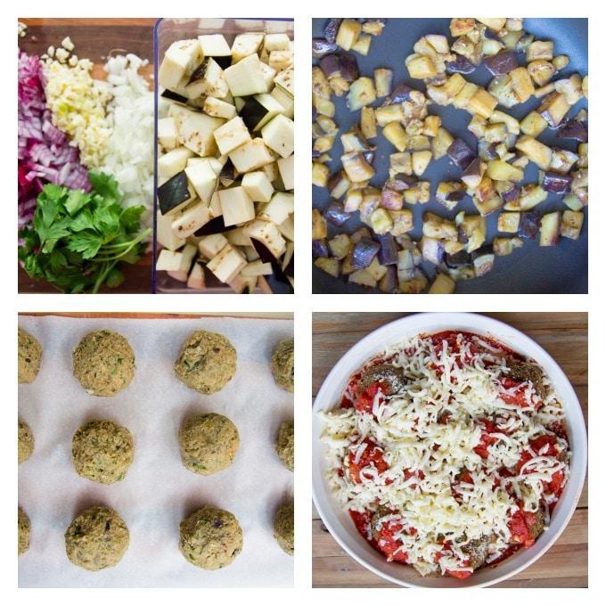 eggplant meatballs process