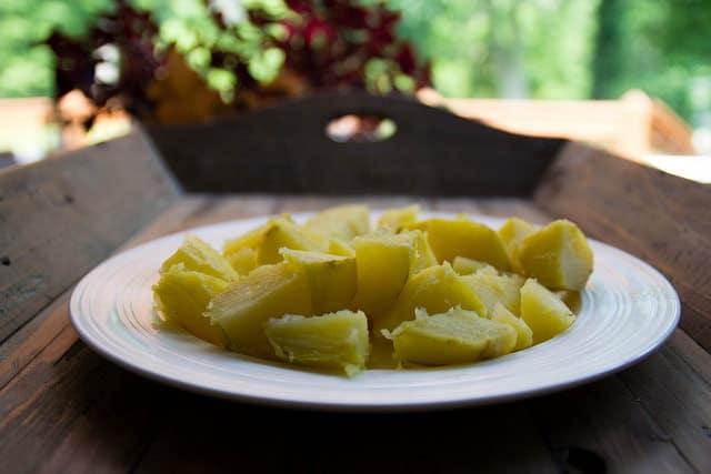 potatoes for swish chard