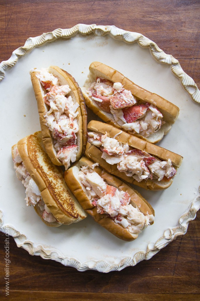 New England lobster rolls - Feeling Foodish