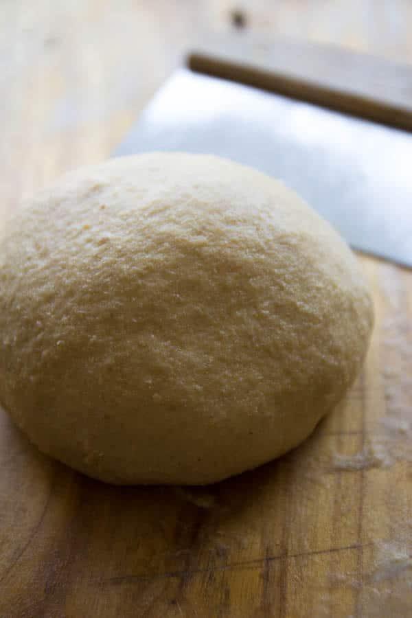 hamburger bun dough done