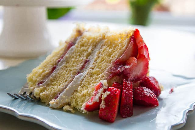 slice strawberry shortcake cassata