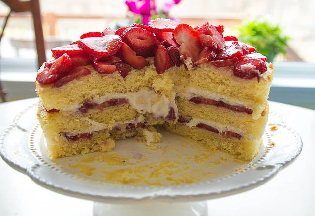 Cleveland Strawberry Cassata Cake Recipe