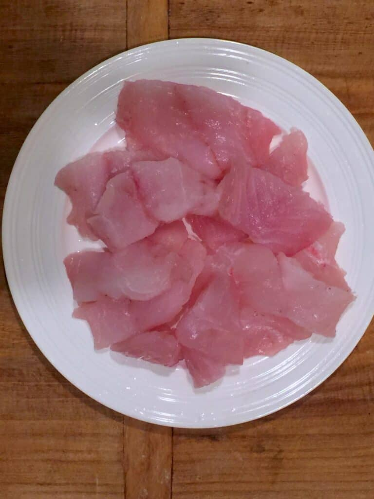 raw fish for fish fry
