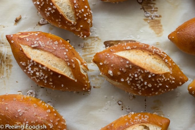Soft mini pretzel buns from Rose Levy Barenbaum's Baking Bible