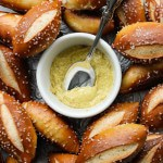 Soft mini pretzel buns from Rose Levy Barenbaum's Baking Bible