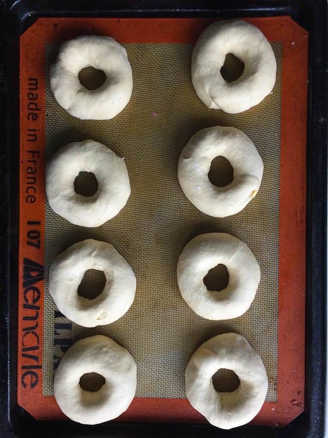 Ny Bagels before rising