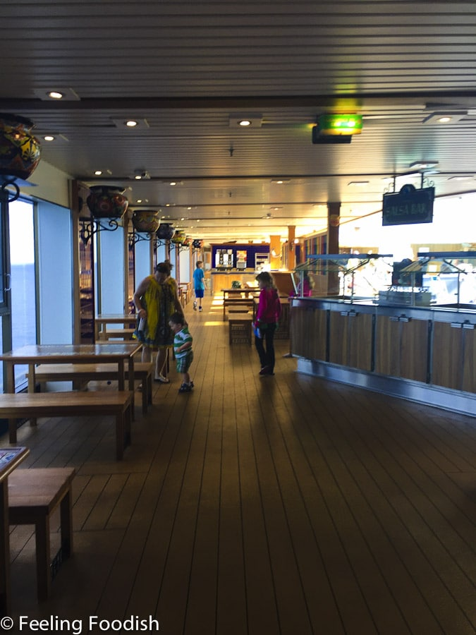 Lido Deck Eating Area
