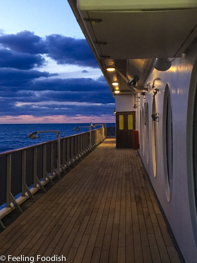 Carnival Pride Open Deck at night
