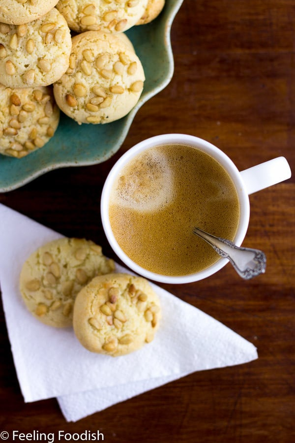 the best pignoli cookies, only 4 ingredients plus pignoli. easy to make too!!