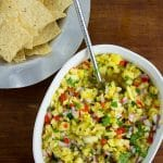 Easy to make pineapple salsa - perfect with chips or as a topping for grilled fish or chicken!
