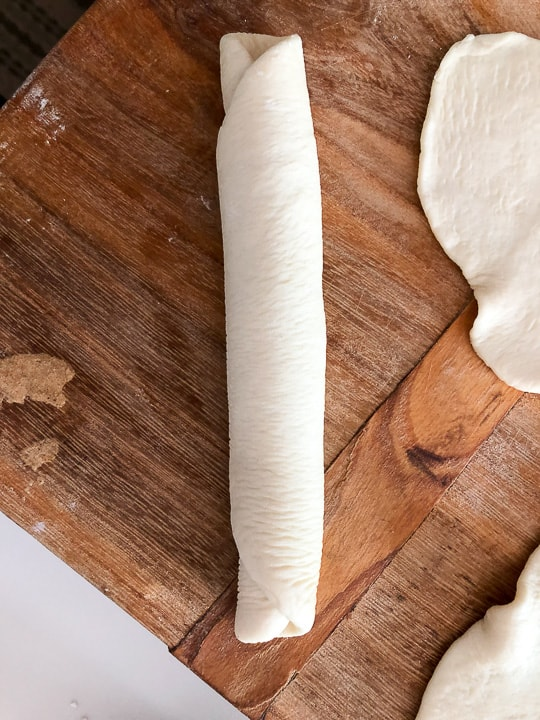 rolled dough for sandwich rolls