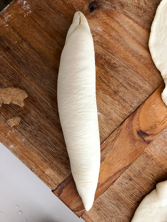 shaped sandwich rolls uncooked