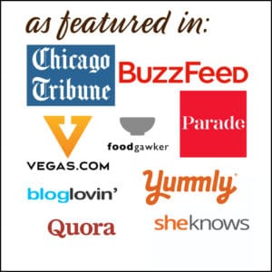 logo collage of brands that have featured feeling foodish recipes