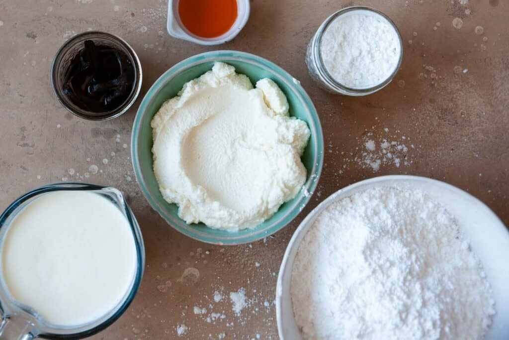 ingredients for cream puff shells