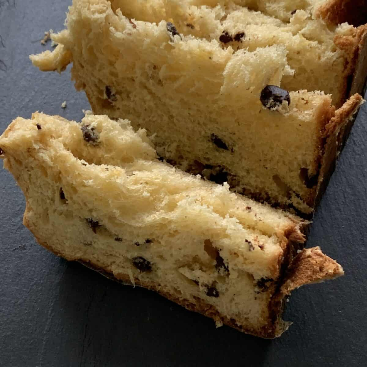 slices of panettone