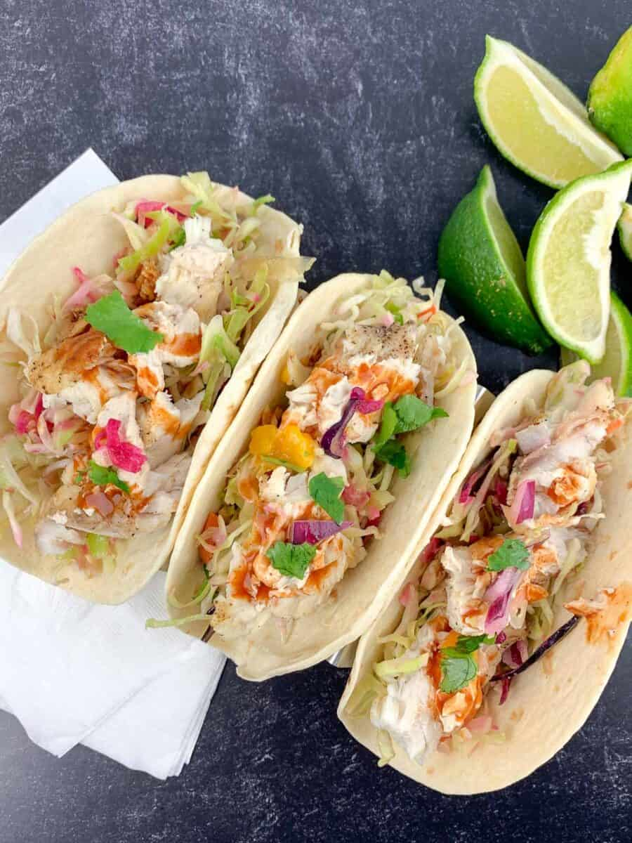 how to make grilled fish tacos recipe