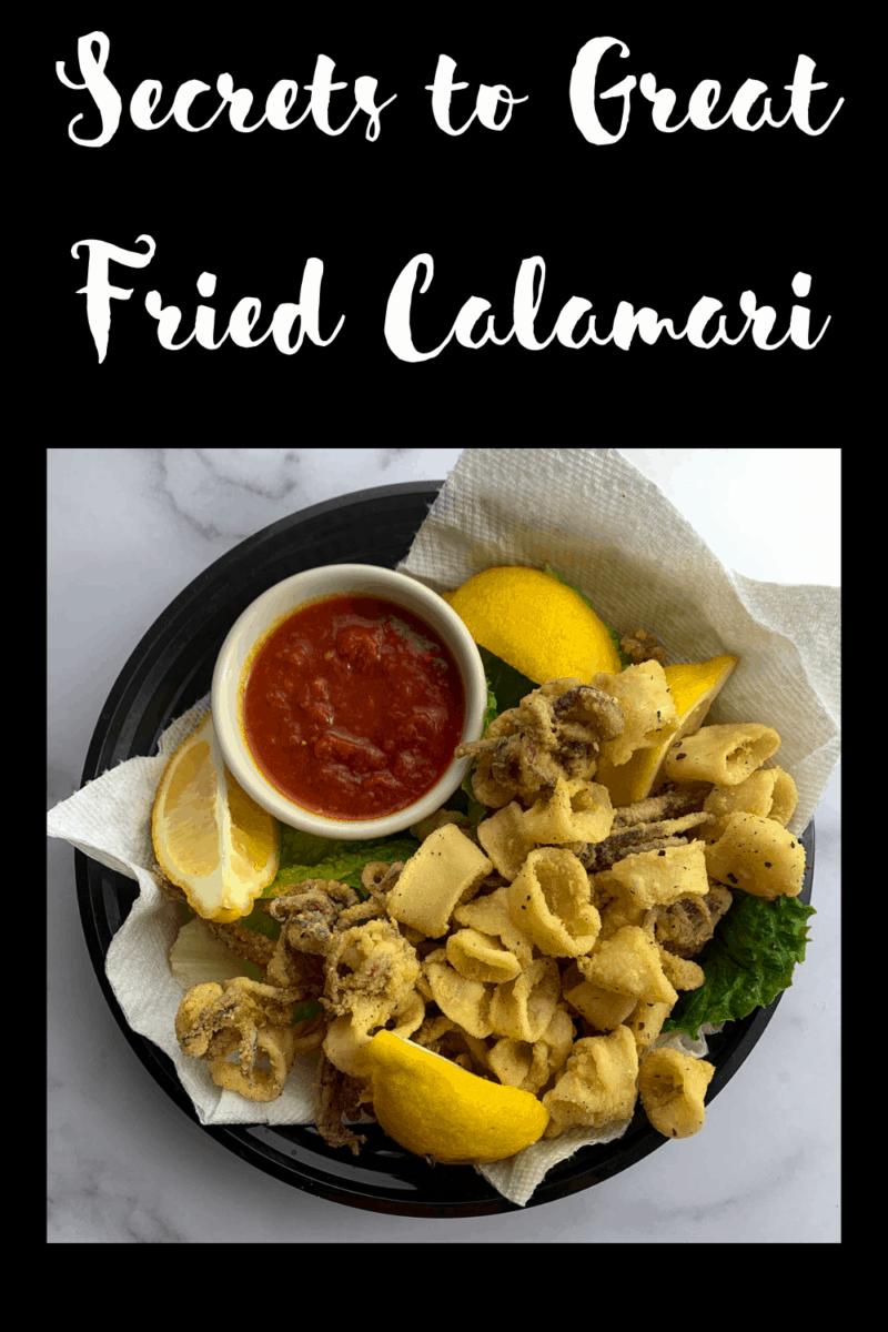 fried calamari with lemon and marinara sauce