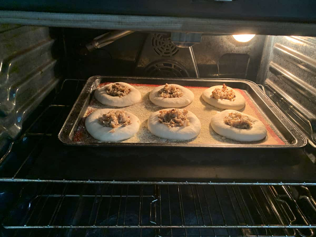 bialys in the oven
