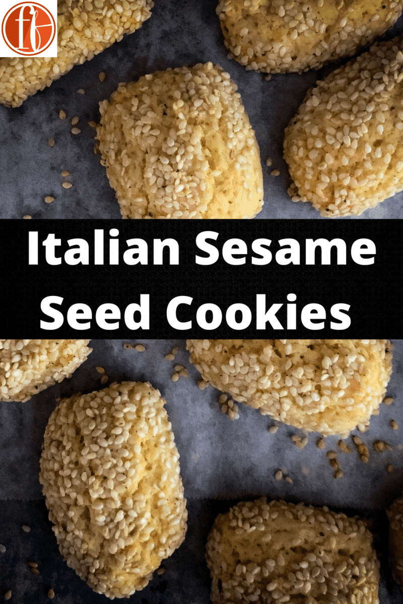 overview of baked sesame cookies